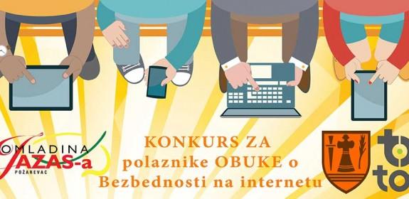 "Konkurs za MLADE polaznike obuke ""Bezbednost na internetu"""