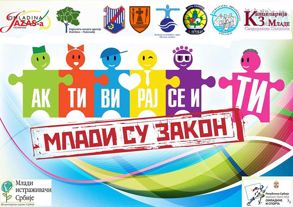 Резултати конкурса за финансирање омладинских волонтерских пројеката – Млади су закон Браничевски и Подунавски окру